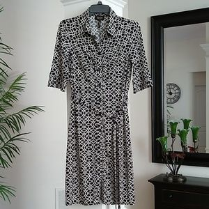 Laundry by Shelli Segal Geometric Print Dress 8